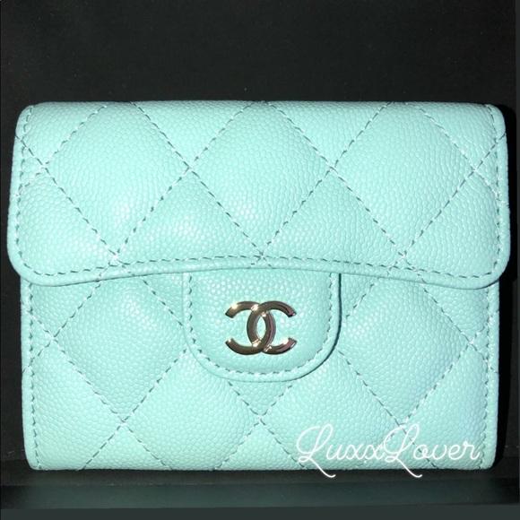 381b97814558 CHANEL Bags | Auth 19c Tiffany Blue Xl Card Case Ghw | Poshmark